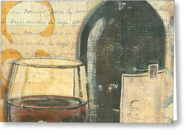 Italian Wine and Grapes Greeting Card by Debbie DeWitt