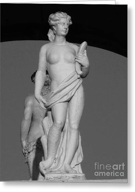 America Sculptures Greeting Cards - Italian Woman With Bread Greeting Card by Nathan Little