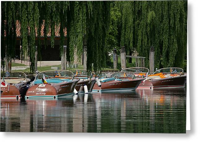 Maritime Classics Greeting Cards - Riva Wooden Runabouts Greeting Card by Steven Lapkin