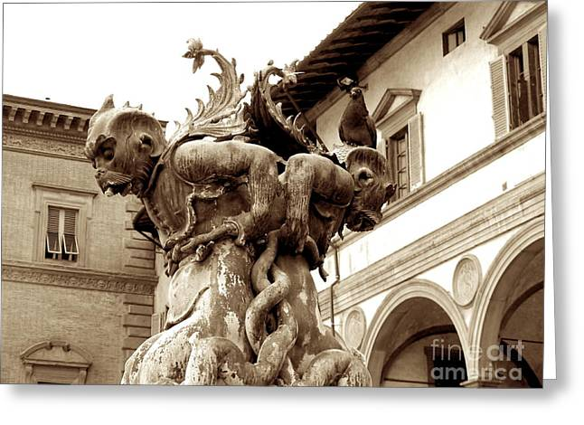 Fontain Greeting Cards - Italy Greeting Card by Anna and Sergey