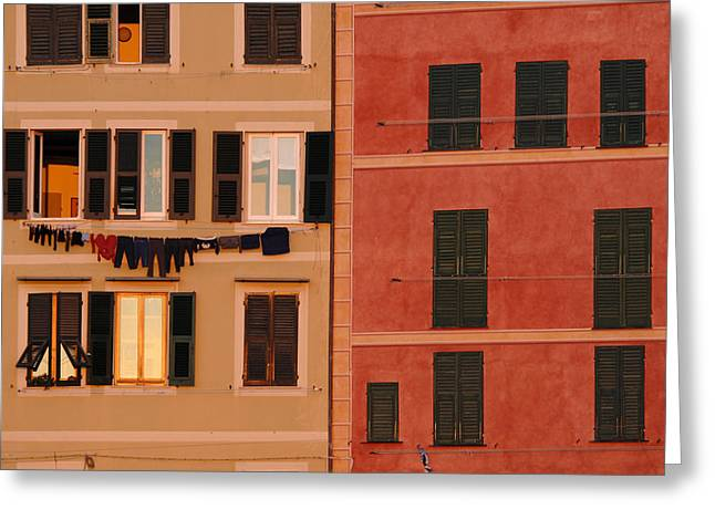 Camogli Greeting Cards - Italy, Liguria, Camogli, Typical Houses Greeting Card by Tips Images