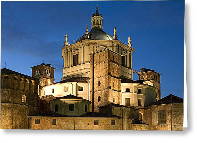 Christianism Greeting Cards - Italy, Lombardy, Milan. San Lorenzo Greeting Card by Tips Images