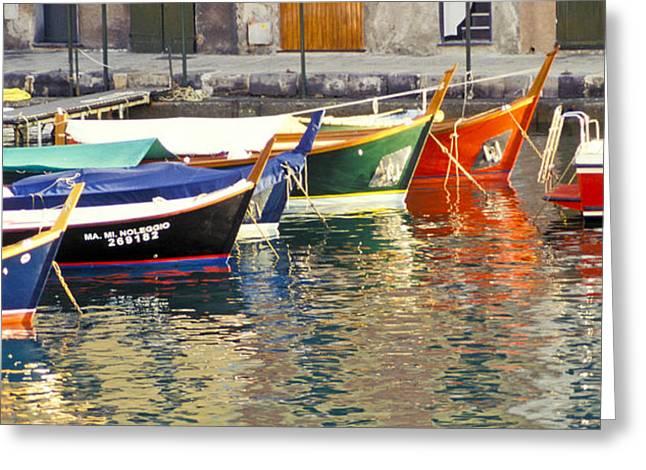 Italy Portofino Colorful Boats Of Portofino Greeting Card by Anonymous