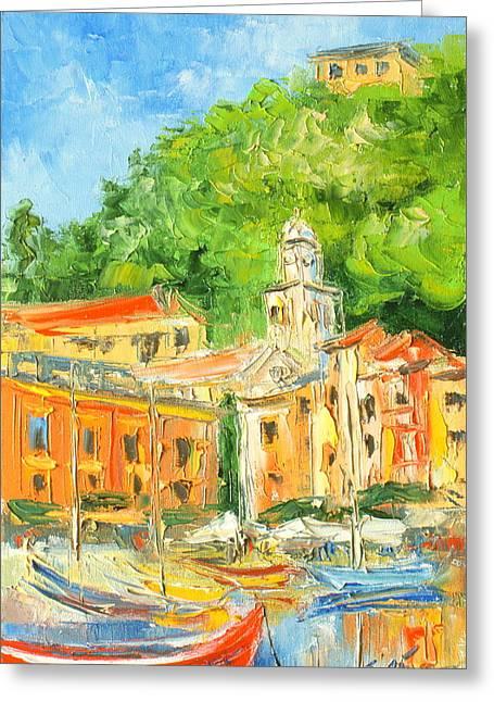 Portofino Italy Greeting Cards - Italy - Portofino Greeting Card by Luke Karcz