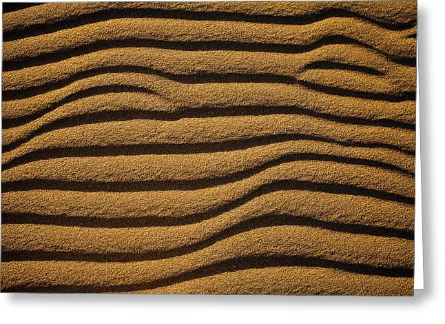 Sand Pattern Greeting Cards - Italy, Sardinia, Teulada, Sand, Dune © Greeting Card by Tips Images