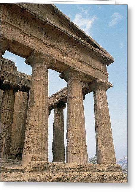 B.c. Greeting Cards - Italy. Sicily. Agrigento. Valley Of The Temples. Temple Of Concordia. 5th Century Bc Greeting Card by Bridgeman Images