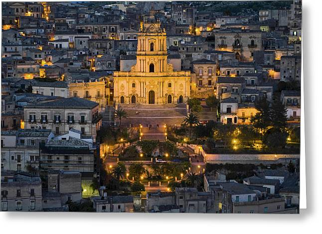 Christianism Greeting Cards - Italy, Sicily, Modica, Saint George Greeting Card by Tips Images