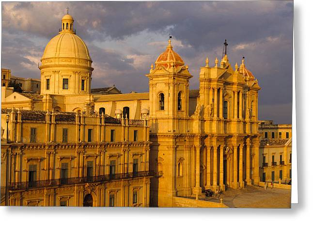 Christianism Greeting Cards - Italy, Sicily, Noto, San Nicol˜ Greeting Card by Tips Images