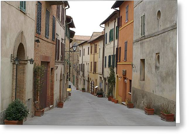 Italy Pyrography Greeting Cards - Italy streets Greeting Card by Fernanda Caleffi barbetta