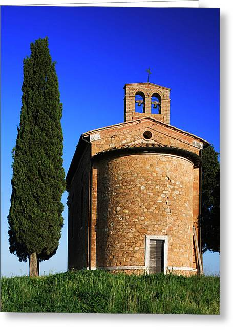 Italy, Tuscany Capella Di Vitaleta Greeting Card by Jaynes Gallery