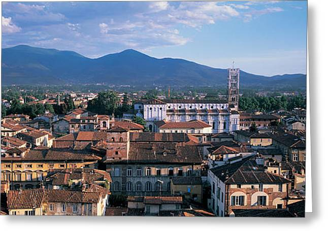 City Buildings Greeting Cards - Italy, Tuscany, Lucca Greeting Card by Panoramic Images