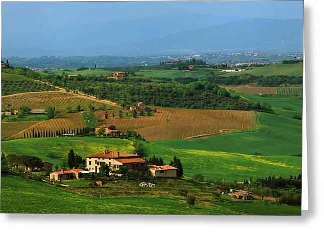 Italy, Tuscany Scenic Of The Val Greeting Card by Jaynes Gallery