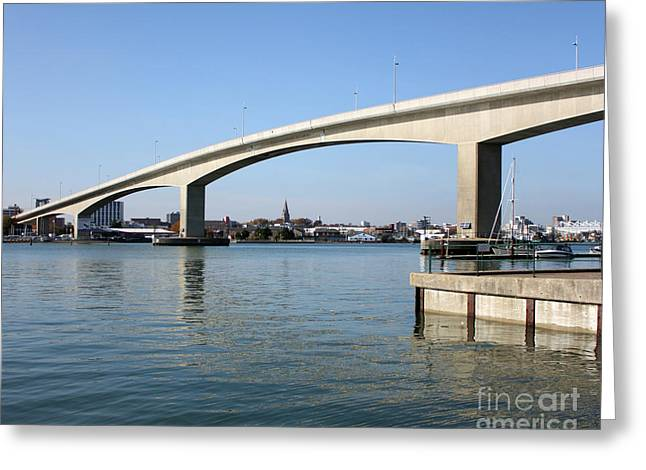 Itchen Bridge Southampton Greeting Card by Terri  Waters