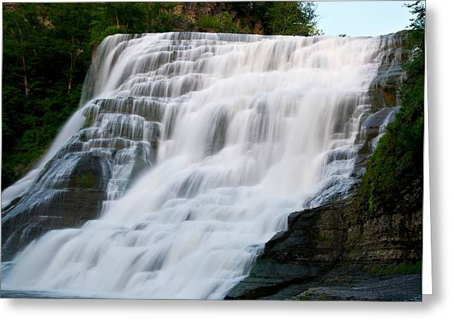 Ithaca Greeting Cards - Ithaca Falls - Image 1387-01 Greeting Card by Larry Jost