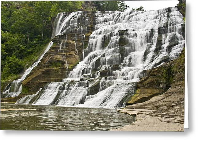 Ithaca Greeting Cards - Ithaca Falls Greeting Card by Anthony Sacco