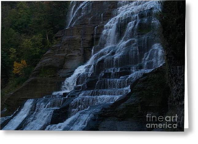 Ithaca Greeting Cards - Ithaca Falls at Dusk Greeting Card by Anna Lisa Yoder
