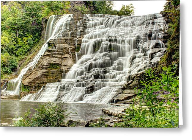 Ithaca Greeting Cards - Ithaca Falls Greeting Card by Brad Marzolf Photography