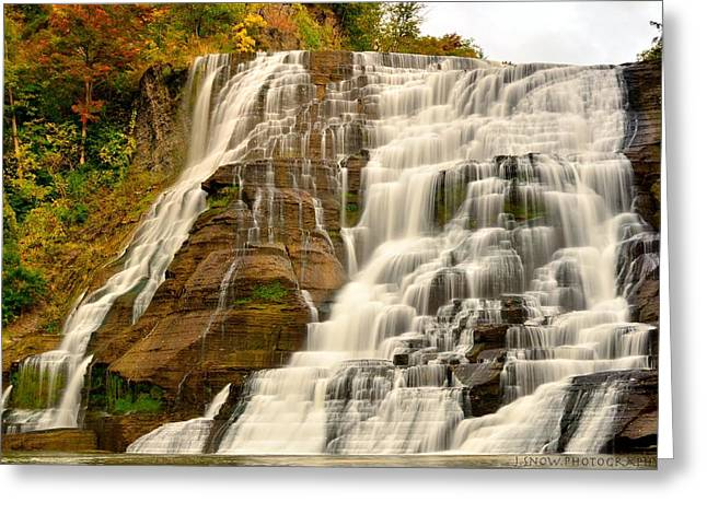 Ithaca Greeting Cards - Ithaca Falls Greeting Card by Joshua Snow