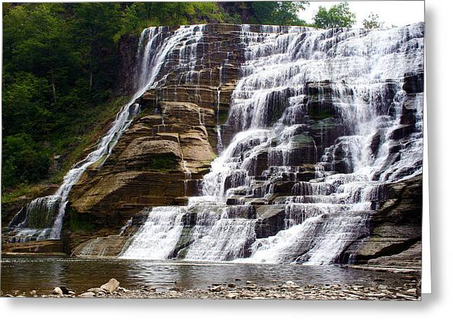 Ithaca Greeting Cards - Ithaca Falls Greeting Card by Twin Tier Photos