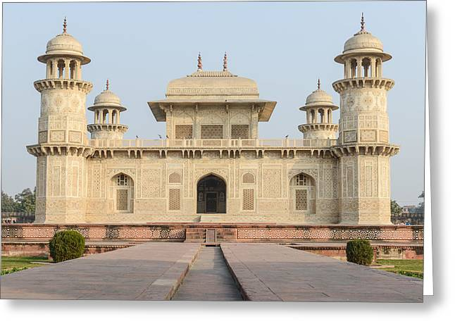 Onyx Greeting Cards - Itimad-ud-Daulah or Baby Taj in Agra India Greeting Card by Brandon Bourdages