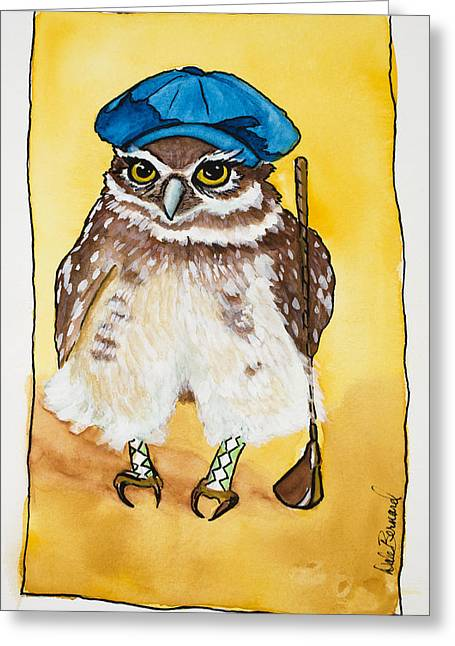 """golf Caps"" Greeting Cards - Its A Birdie Lets Celebrate Greeting Card by Dale Bernard"