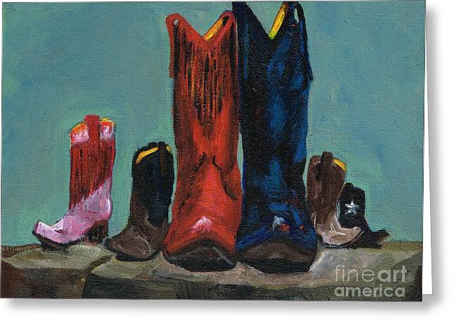 Western Boots Greeting Cards - Its A Family Tradition Greeting Card by Frances Marino