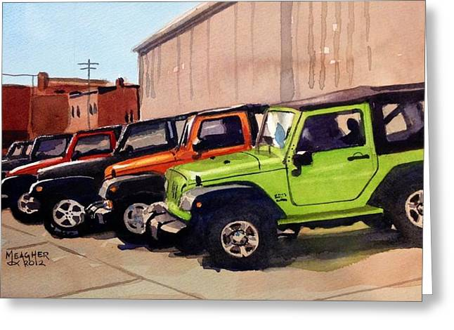 It's A Jeep Thing Greeting Card by Spencer Meagher