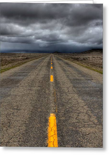 Long Road Greeting Cards - Its A Long Road Greeting Card by Beth Sargent