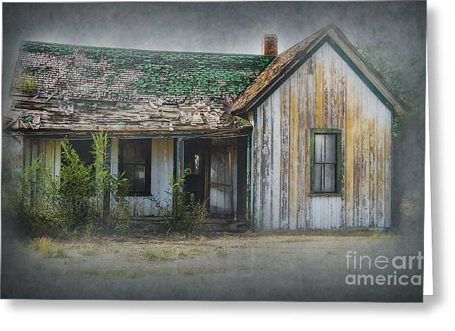 Empty Building Greeting Cards - Its  A Long Story Greeting Card by Sandra Bronstein