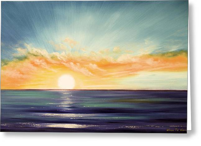 Best Sellers -  - Sunset Posters Greeting Cards - Its a New Beginning Somewhere Else Greeting Card by Gina De Gorna