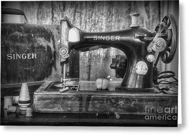Sewing Hobby Greeting Cards - Its a Singer Sewing Machine Greeting Card by Paul Ward