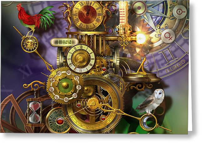 Its About Time Greeting Card by Ciro Marchetti