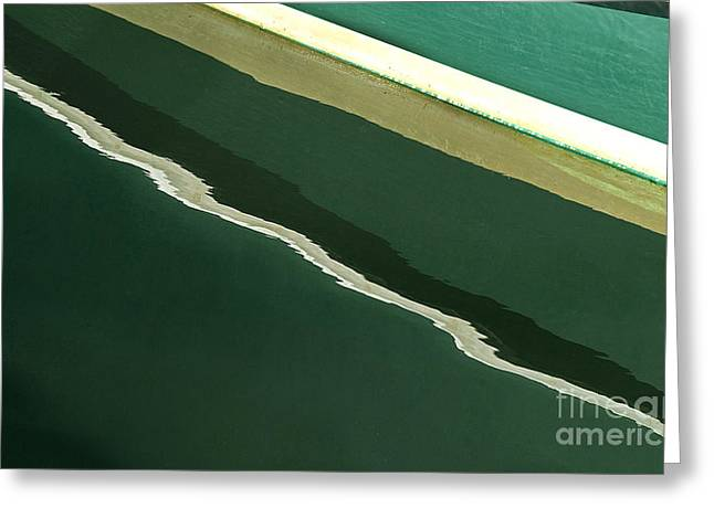 Lobster Boat Greeting Cards - Its All Green Greeting Card by Cindi Ressler