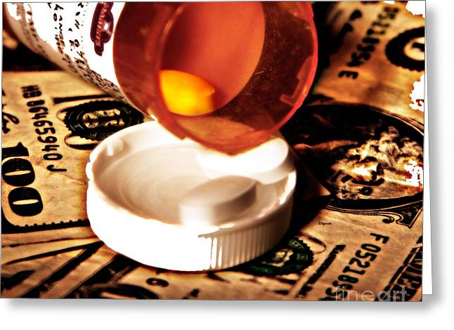 Medication Greeting Cards - Its all money Greeting Card by Steven  Digman