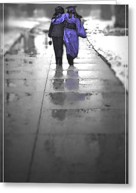 Overcast Day Digital Art Greeting Cards - Its Been a Long Road Greeting Card by Mike Bowers