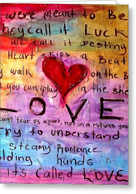 Its Called Love Greeting Card by Ivan Guaderrama
