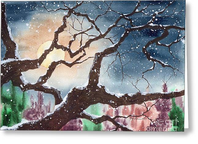 Snowy Night Paintings Greeting Cards - Its Cold Outside Greeting Card by Melanie Pruitt
