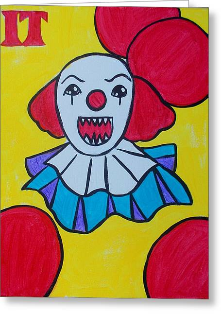 Pennywise Greeting Cards - Its Cute Greeting Card by Marisela Mungia