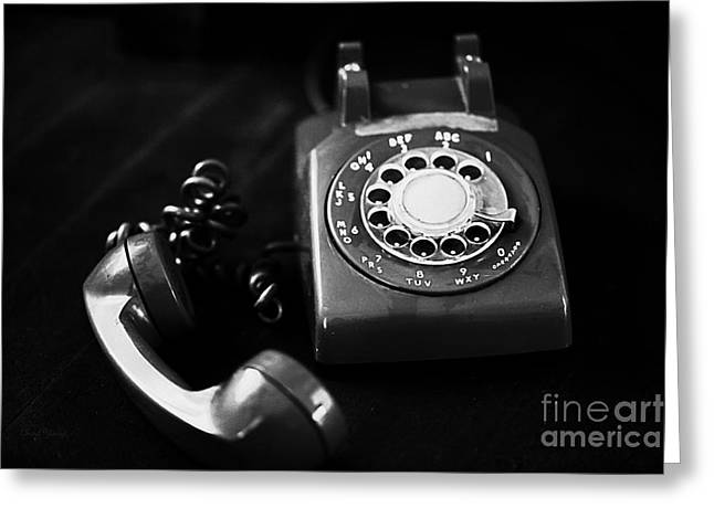 Handset Greeting Cards - Its For You bw Greeting Card by Cheryl Young