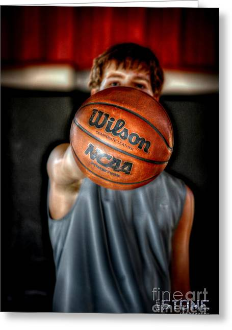Basket Ball Game Greeting Cards - Its Go Time Greeting Card by Dan Stone