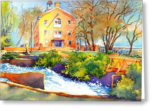 Mills Paintings Greeting Cards - Its Gone When It Passes Here Greeting Card by Virgil Carter