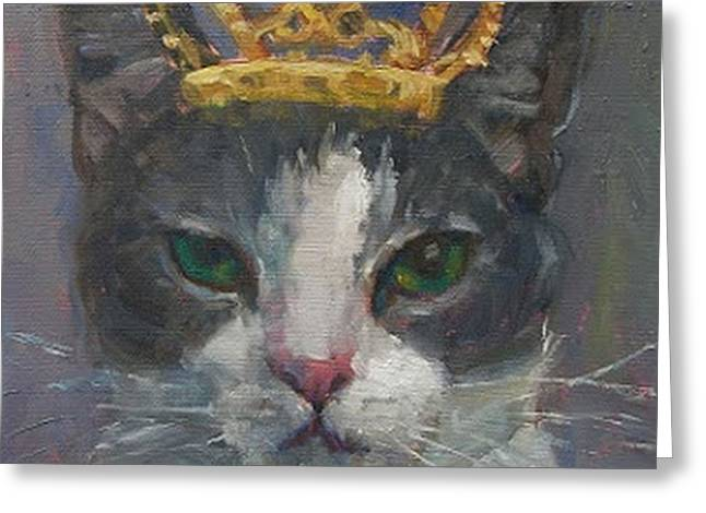 Eva Marie Greeting Cards - Its Good To Be King Greeting Card by Eva Marie Tanner-Klaas