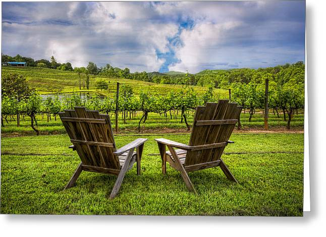 Grapevine Greeting Cards - Its Happy Hour Greeting Card by Debra and Dave Vanderlaan