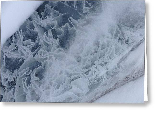 It's Ice 4 Of 5 Series Greeting Card by Michael French