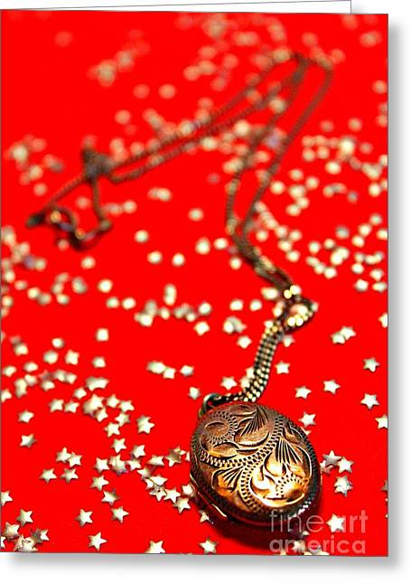 Locket Greeting Cards - Its in the Stars Greeting Card by Clare Bevan