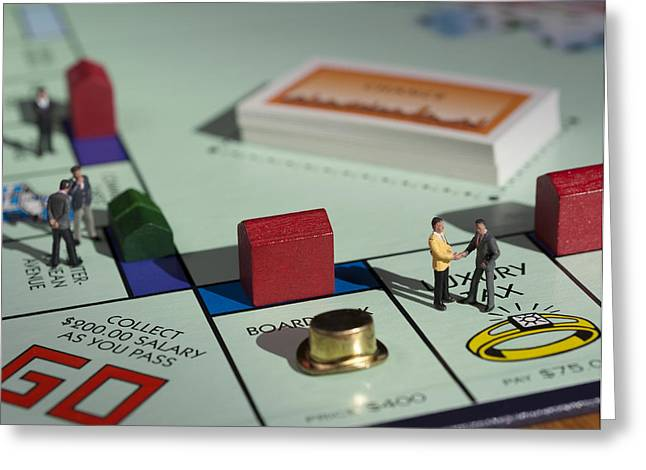 Monopoly Greeting Cards - Its Just a Game to You Greeting Card by Dusty Demerson