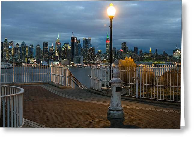 Nyc Pyrography Greeting Cards - Its Just A View Greeting Card by Orlett W Pearson