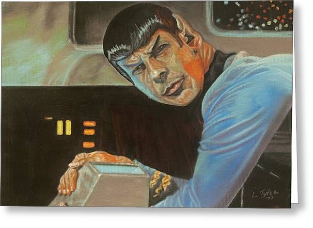 Spock Pastels Greeting Cards - Its Like Nothing Weve Seen Before Greeting Card by Lana Tyler