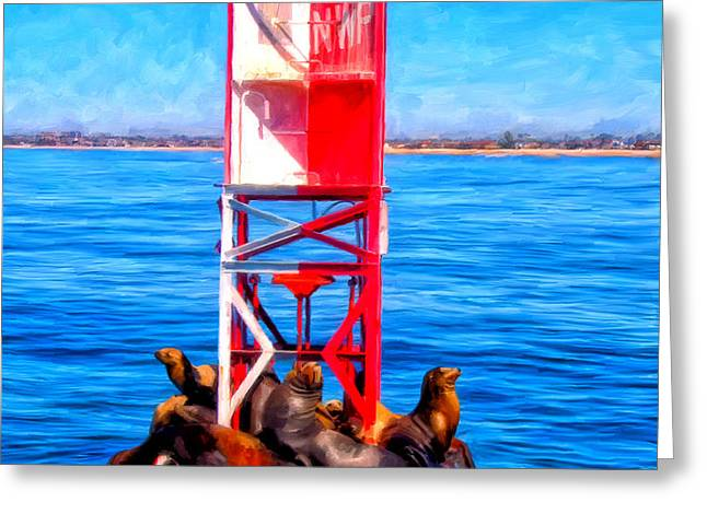 It's Lonely at the Top Greeting Card by Michael Pickett