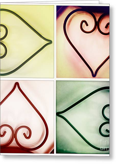 Scroll Digital Art Greeting Cards - Its LOVE no matter which way you look at it Greeting Card by Linda Lees